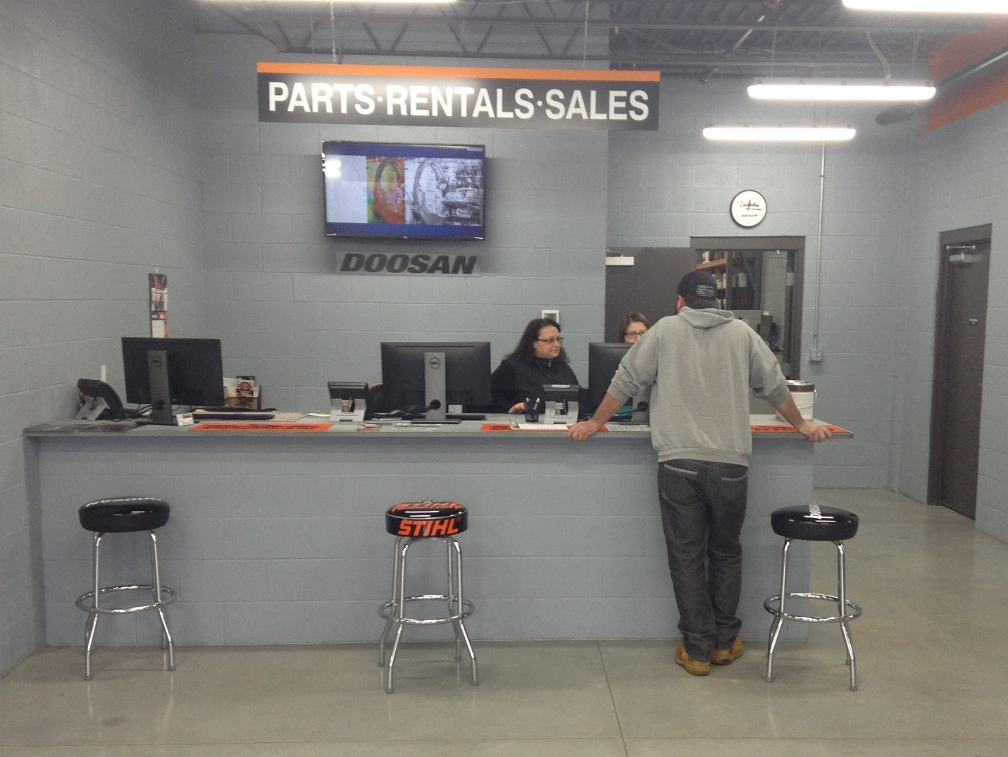 Sales, Rentals and Parts at Equipment East in Dracut, MA.